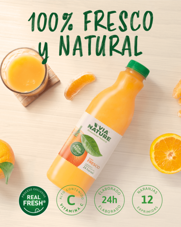 Via Nature Fresco con 12 naranjas y pulpa triturada